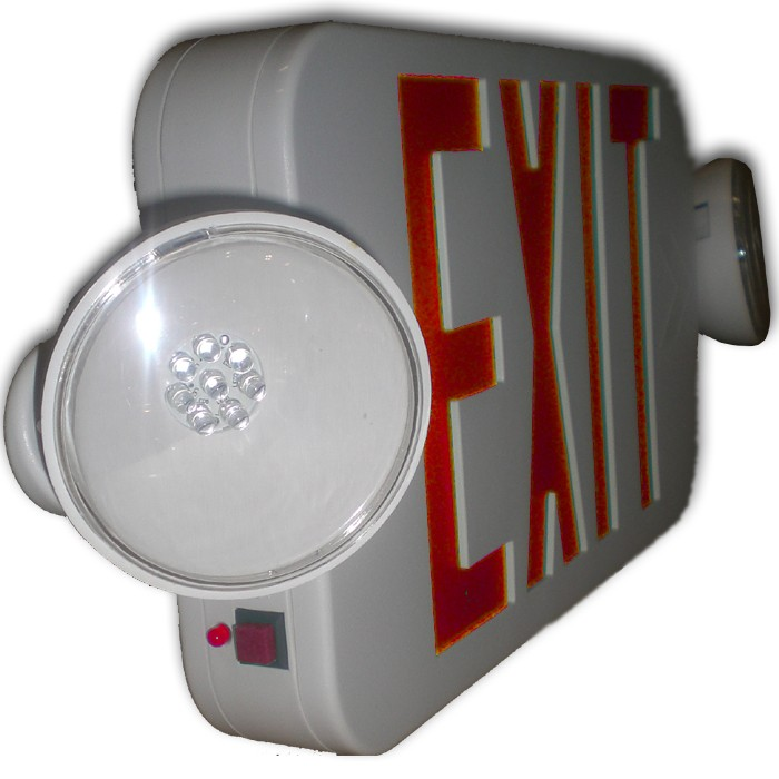 ... Side View of Mini LED Exit Sign Combo ...  sc 1 st  buySiltron.com : nfpa 101 emergency lighting - www.canuckmediamonitor.org