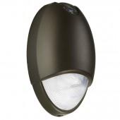 Outdoor Emergency LED Wall Pack - Dark Bronze