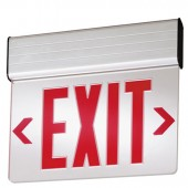 Edge Lit LED Exit Sign with Red Letters