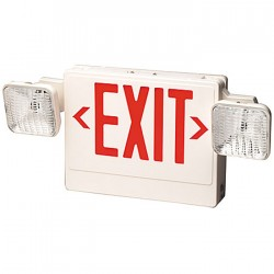 Siltron™ PXL-2H Series Plastic LED Exit/Emergency Light Combo