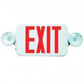 Mini Exit Sign Combo Shown with Red LED Letters