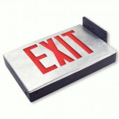 Die Cast Aluminum LED Exit Sign - Shown with Red Letters